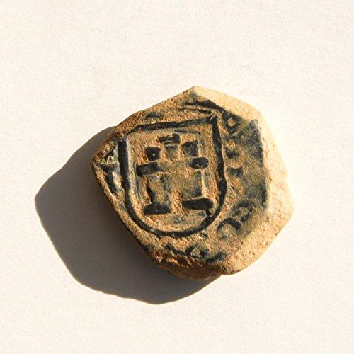 1680 ES 17th Century Carlos II Spanish Colonial Caribbean Pirate Era2 Maravedis Cob Coin Good Details