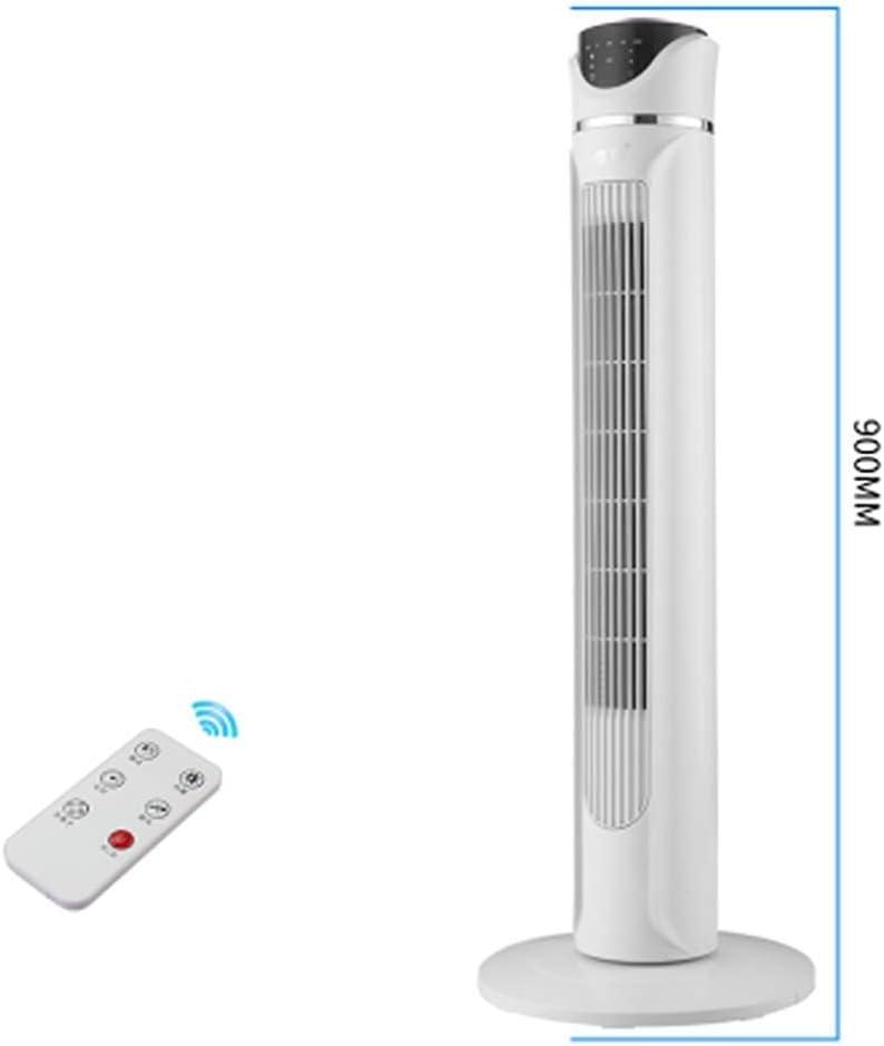 Ventilador de torre Oscilación, Refrigeradores evaporativos móviles A: ventilador de enfriamiento de piso sin hojas tipo torre doméstica Ventilador de escritorio ciclo móvil, control remoto del ventil
