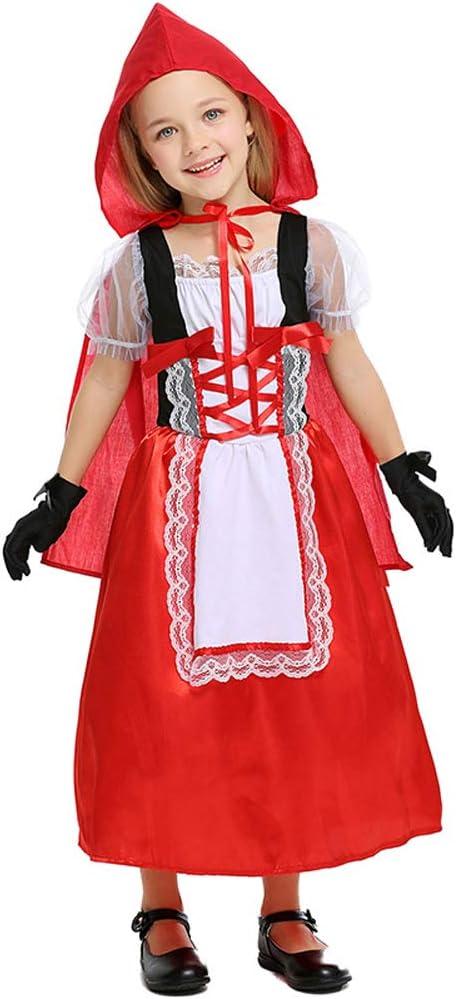 LOLANTA Disfraz de Caperucita Roja para niñas Disfraz de Halloween ...