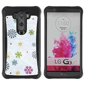Suave TPU GEL Carcasa Funda Silicona Blando Estuche Caso de protección (para) LG G3 / CECELL Phone case / / Snow Winter Gift Christmas /