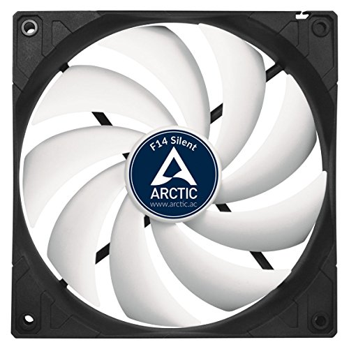 Arctic F14 Silent - Ultra-Quiet 140 mm Case Fan | Silent Cooler with Standard Case | Almost inaudible | Push- or Pull Configuration Possible by ARCTIC (Image #1)
