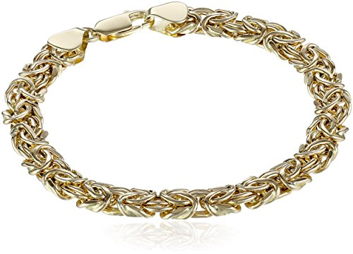 14k Yellow Gold Byzantine Chain Bracelet, 7.5'' by Amazon Collection