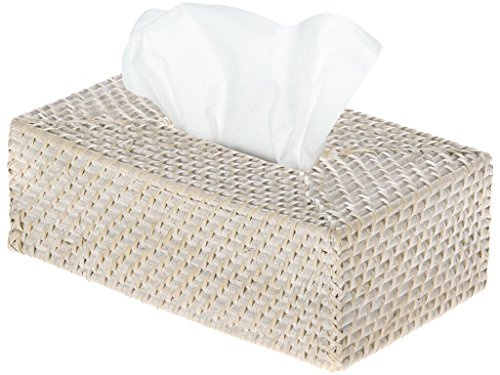 (KOUBOO 1030061 Laguna Rectangular Rattan Tissue Box Cover, 9.5