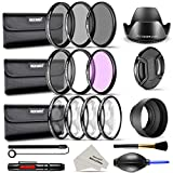 Neewer Complete 58mm Lens Filter Kit for DSLR Camera with 58mm Thread Size: UV CPL FLD Filter Set, Macro Close Up Set (+1 +2 +4 +10), ND Filter Set (ND2 ND4 ND8), Lens Hoods and Other Accessories