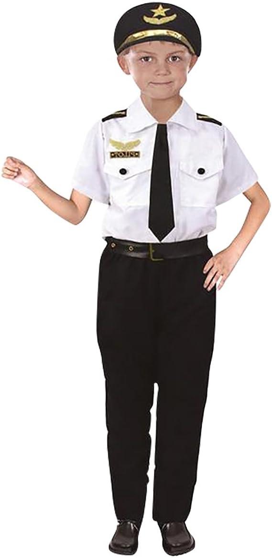 NiSeng Disfraz de piloto para niño Carnaval Cosplay Disfraces ...