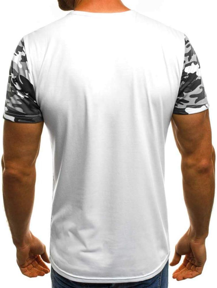HNOSD Camiseta de Hombre con Estampado de Camuflaje 2019 Nuevas ...