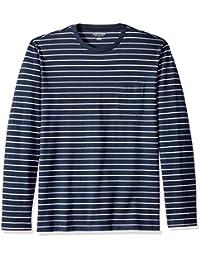 Men's Regular-Fit Long-Sleeve Patterned T-Shirt