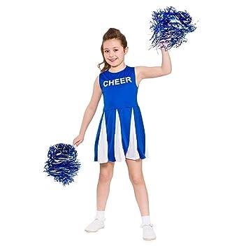 3c6805030b7 Girls Cheerleader Fancy Dress Blue White (3-4 years)