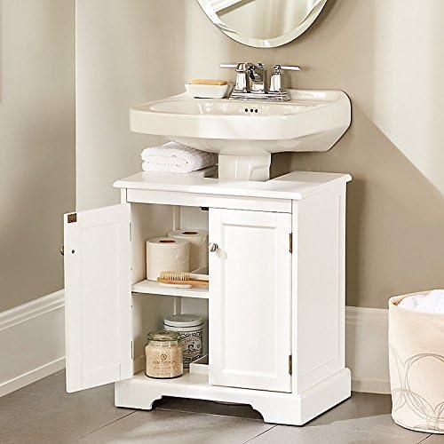 Amazon.com: Improvement Weatherby Bathroom Pedestal Sink Storage