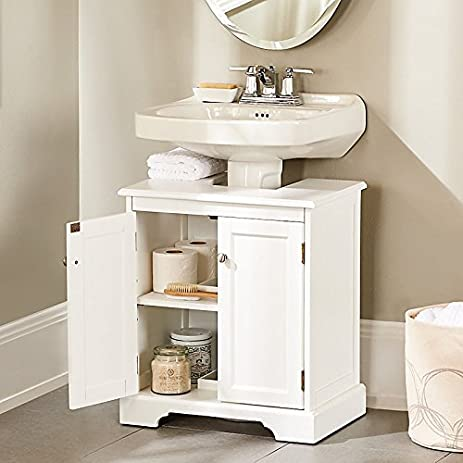 Weatherby Bathroom Pedestal Sink Storage Cabinet - Improvements