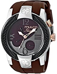 MULCO Unisex MW5-1877-035 ILUSION CRESCENT Analog Display Swiss Quartz Brown Watch