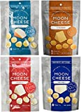 Moon Cheese, Pack of Four, Assortment (Cheddar, Gouda, Pepperjack, Mozzarella), 100% Cheese and Gluten Free