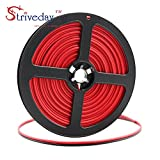 Striveday™ 20ga 10meter/ 32.8FT 2 Conductor 2PIN Red/Black Hook up Wire 12V DC 2468 20AWG RED BLACK wire for Led Strips Single Color 3528 5050