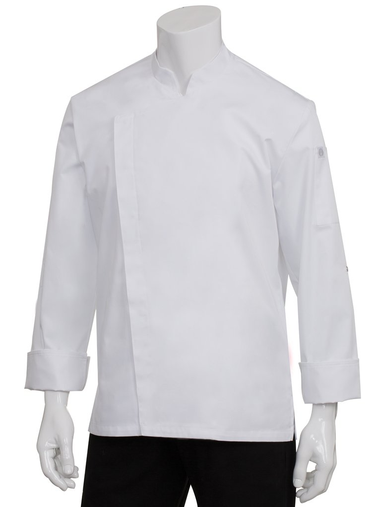Chef Works Men's Lansing Chef Coat, White, X-Large