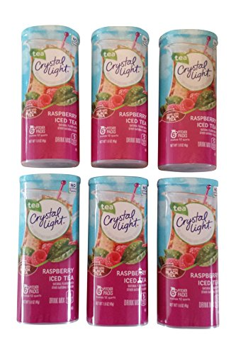 Crystal Light Raspberry Tea, (12-Quart) 1.6-Ounce Canisters (Pack of - Crystal Canister