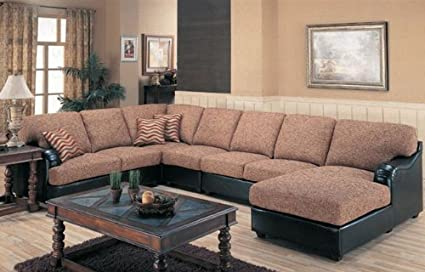 Peachy Amazon Com Sectional Sofa Couch Multi Color Weaved Chenille Evergreenethics Interior Chair Design Evergreenethicsorg