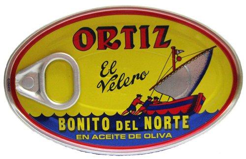 Ortiz Bonito Del Norte Tuna In Olive OIl 3.95 oz Oval Tin (Spain) 12 ()