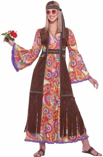Women's Hippie Love Child Costume, Multi-Colored, One Size (Hippie Love Costume)