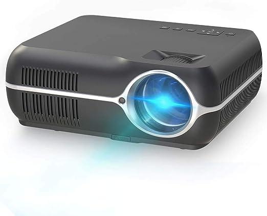 ZKKAW Proyector casero, proyector de 1280 * 800 HD, teléfono móvil ...