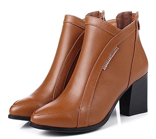 Ms ha da con scarpe casual stivali delle Martin stivali scarpe tacco sottolineato alto brown ascensore grossi con autunno single stivali donna donne EZZvwqxYS