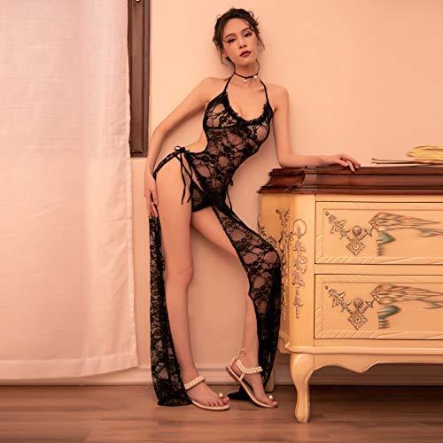 ACZZ Lencería erótica sexy Ropa de dormir de honda, falda larga ...