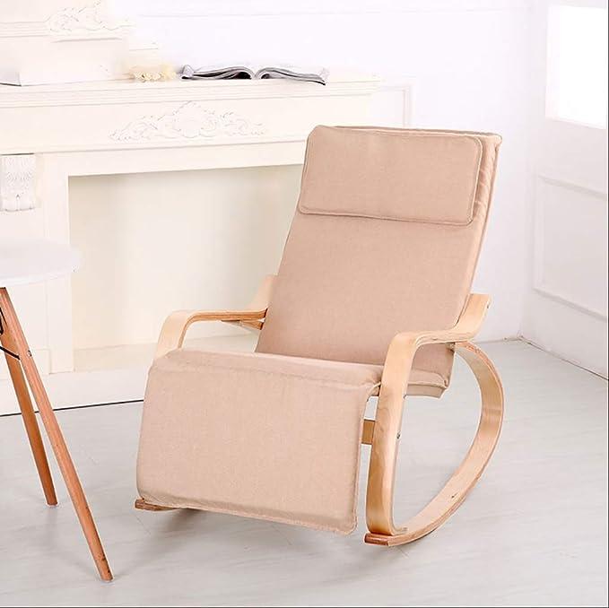 Du hui Silla Mecedora de Madera, sillón con diseño de ...