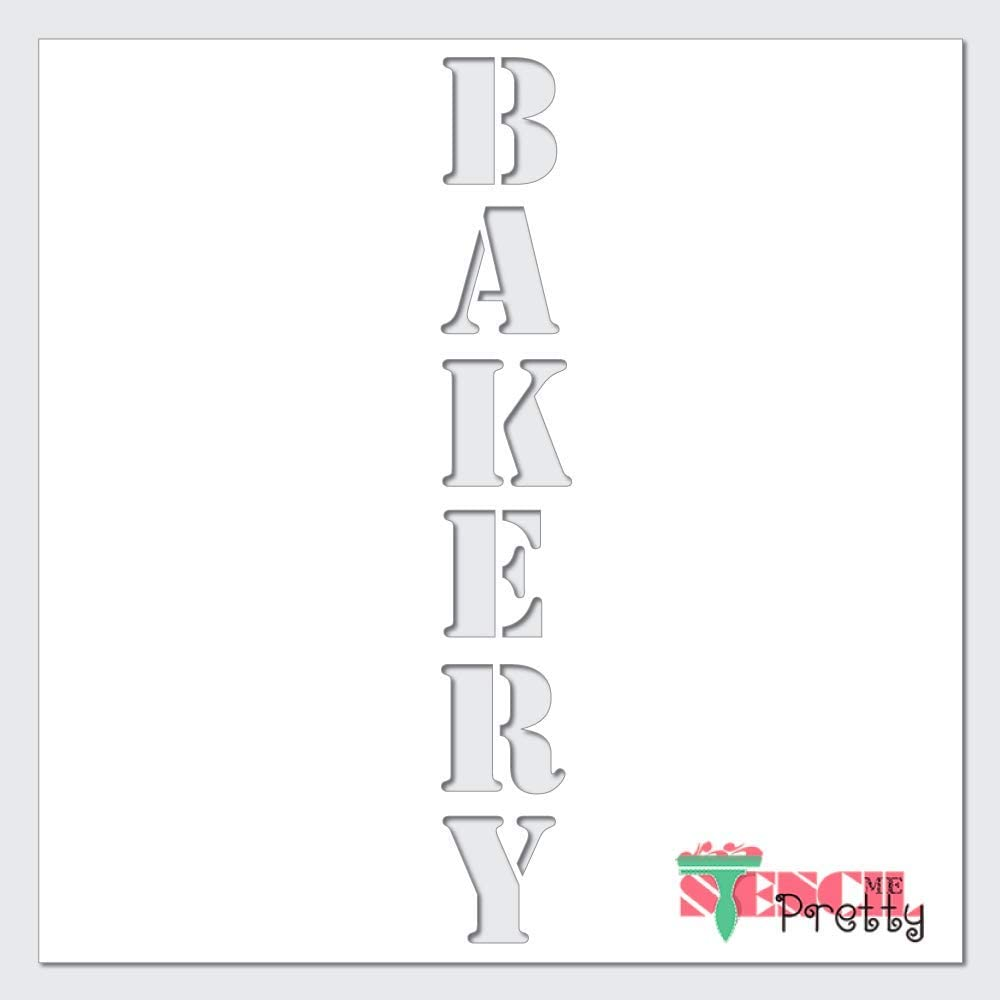 Amazon Com Stencil Vintage Farmhouse Bakery Diy Vertical Kitchen Sign Xl 3 5 X 23 Ultra Thick Exhibit Grade White Color Material