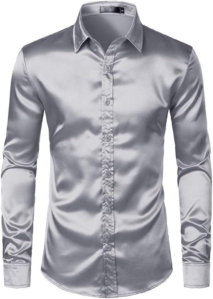 Mens Polo Shirtcamisas De Vestir Satén para Hombres Camisa De ...