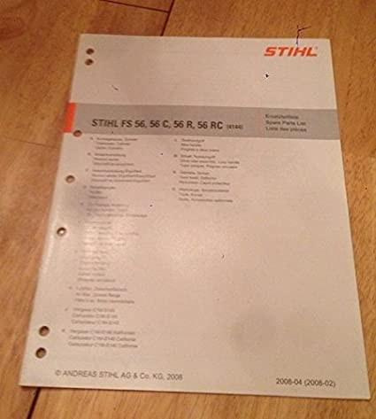 Stihl FS 56 Trimmer IPL Spare Parts List (4144)