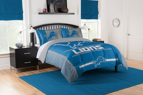 Officially Licensed NFL Detroit Lions Safety Full/Queen Comforter and 2 Sham Set