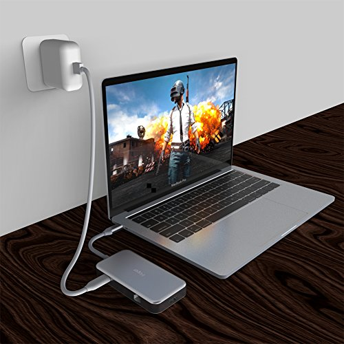 iHaper USB C Hub, USB Type C Hub with USB-C 3.1 (Power Dellvery) for Charging, Gigabit Ethernet Port, 4K HDMI Port, 3 USB 3.0 Ports for MacBook,MacBook Pro 2016/2017,Dell XPS 13 and more, Space Gray by iHaper (Image #7)