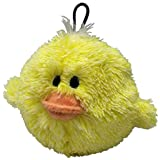 4 Inch Ez Squeaky Chick Chicken Round Dog Toy By Petlou