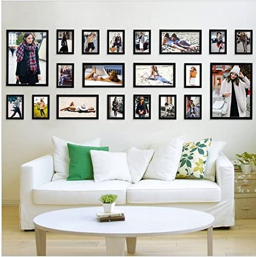 Gowe Black Good Wood Wall Frames Per Picture Frame Ideas 20 Pcs Set Used For Framed Family Baby Love Memory Home Photo Frame Set Amazon Com