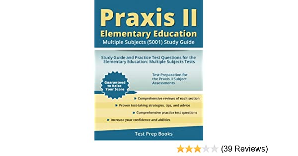 Amazoncom Praxis Ii Elementary Education Multiple Subjects 5001