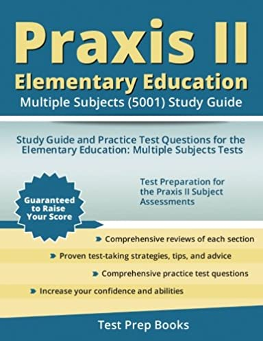 amazon com praxis ii elementary education multiple subjects 5001 rh amazon com praxis ii english language arts study guide best praxis 2 english study guide