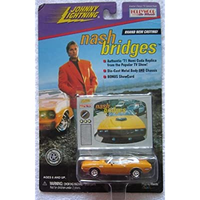 JOHNNY LIGHTNING NASH BRIDGES '71 CUDA DIECAST CAR 1:64: Toys & Games
