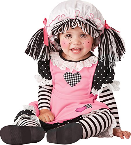 UHC Baby Doll Raggedy Ann Toddler Infant Girls Fancy Dress Halloween Costume, 18-24M