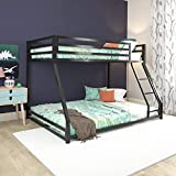 DHP Miles Metal Bunk Bed, Black, Twin/Full