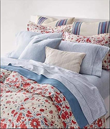 (Lauren Kelsey Paisley Floral Block Print Duvet Set - Full Queen Size Set)