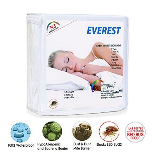 Everest Supply Premium Mattress Encasement, Knitted Polyester PU Laminated Fabric, Waterproof, Bedbug proof, Hypoallergenic, Zippered Protector/Cover, KING size 78x80+7