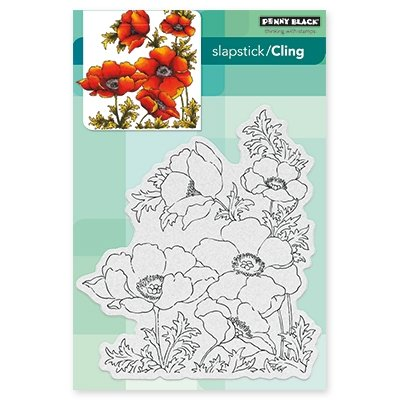 Penny Black 40-447 Poppy Gems 5 x 7'' Cling Stamp by Penny Black