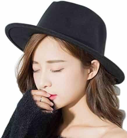 99320c22dfc ... Panama Straw Summer Cotton Fedora Beach Sun Hats Short Brim. seller  EUPHIE  YING. (2). Clecibor Women or Men Woolen Felt Fedora Vintage Short Brim ...