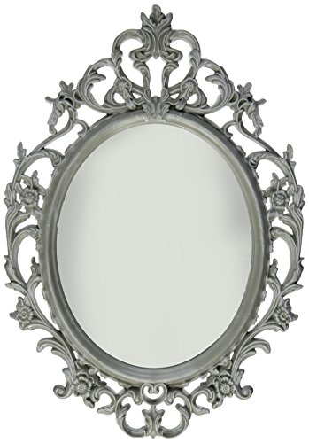 Kole Ornate Grey Oval Mirror