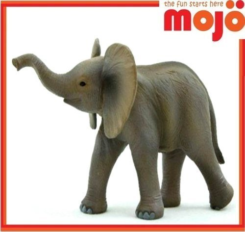MOJO ELEPHANT CALF PAINTED REPLICA WILD ANIMAL COLLECTABLE TOY FIGURE 387002 by MOJO