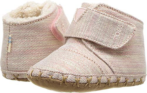 TOMS Kids Baby Girl's Cuna (Infant/Toddler) Rose Cloud Twill Glimmer 3 M US Infant M ()
