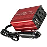 Uinstone 150W Car Power Inverter DC 12V to 110V AC Converter with 3.1A Dual USB Car USB Charger