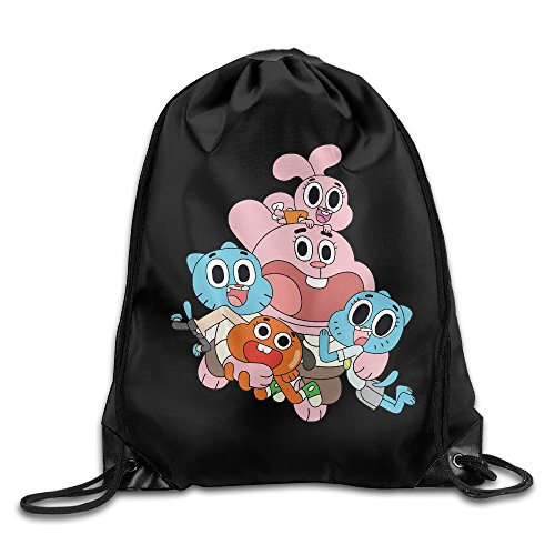 Darwin Gumball Costume (Drawstring Tote Backpack Bag The Amazing World Of Gumball)