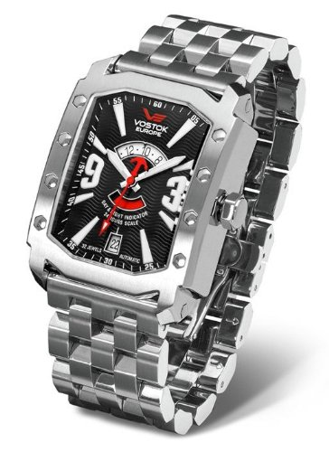 Vostok Europe - Arktika - Steel Line - Black/Red/Silver - 2432/3405182B