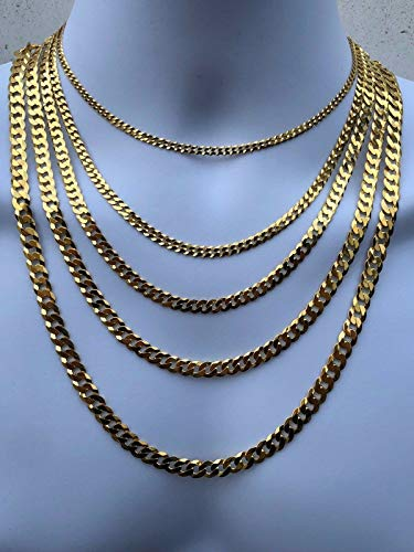Buy figaro link chain 14k solid gold