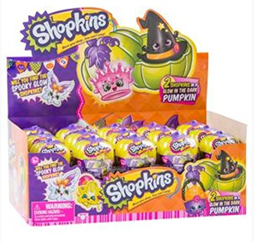 (Shopkins Halloween Surprise 2-Pack In Glow In The Dark Pumpkin Carrier - Case of)
